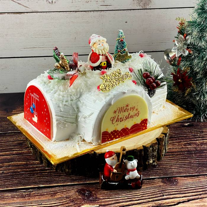 Gula Melaka Christmas Log Cake