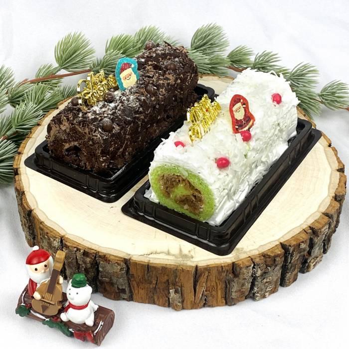 Mini Christmas Log Cakes